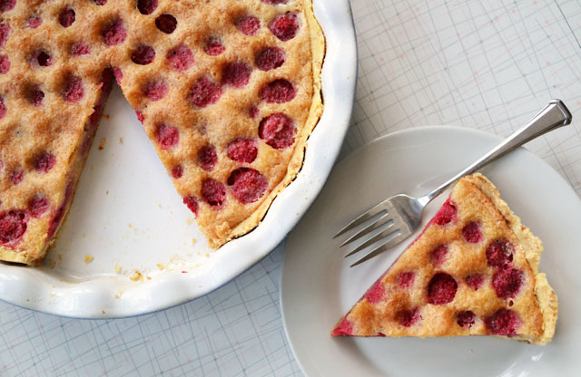 Raspberry browned butter pie