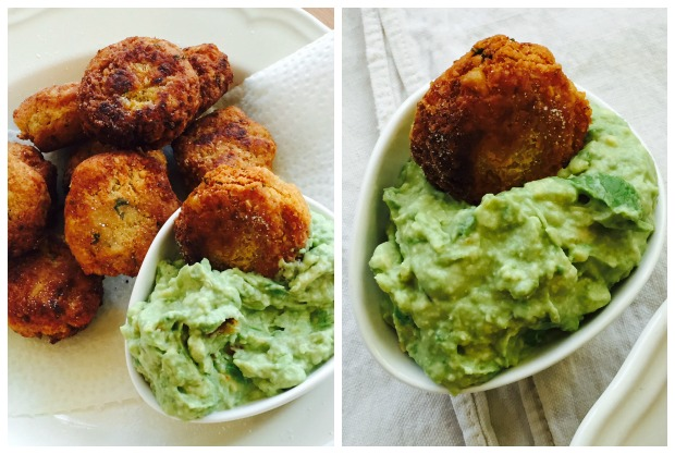 Homemade Falafel with Avocado Tzatziki