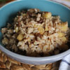 7. Use leftover brown rice to make an Apple Cinnamon Breakfast bowl.