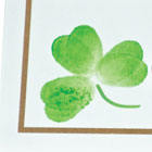 Shamrock fingerprint place cards