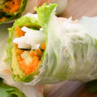 How to roll up a Vietnamese rice paper roll