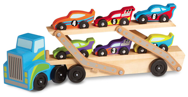 Mega Race Car Carrier with Cars (Melissa & Doug)