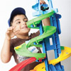 Pranav, 5, has some fun with the Little People City Skyway