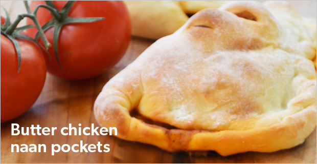 Butter chicken naan pockets