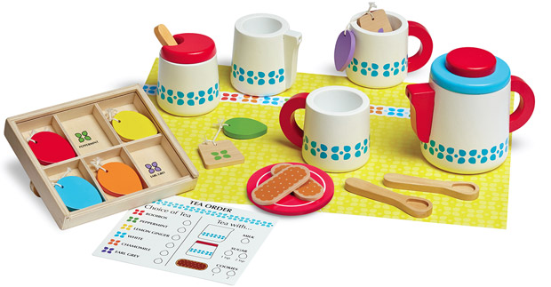 Melissa & Doug Wooden Steep and Serve Tea Set
