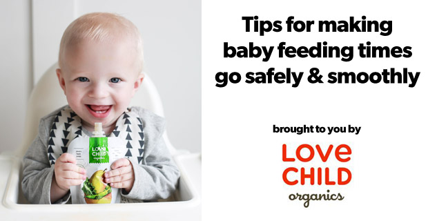 Tips for Making Baby Feeding Times go Safely and Smoothly